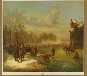 IJsvermaak bij het bastion Zonnenburg in Utrecht
