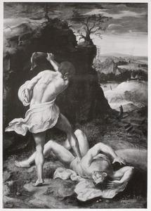 Kaïn doodt Abel met een kakebeen (Genesis 4:8)