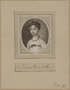 Portret van Johanna Constantia Cleve (1800-1822)