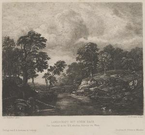 Landschap met een beek