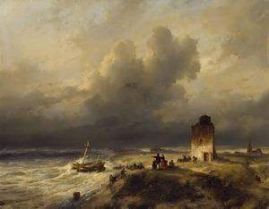 Het stranden van een schip te Scheveningen