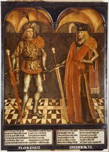 Haarlemse gravenportretten: Florens II en Diederik VI