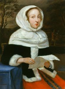 Een vrouw met een brief