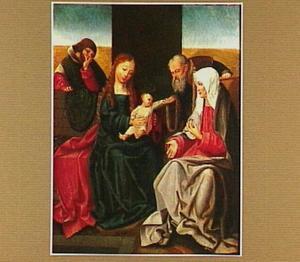 De Heilige Familie met Joachim en Anna