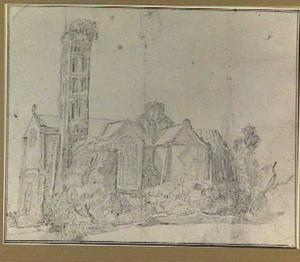 Kerk, geïnspireerd op de Mariakerk in Utrecht