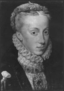Portret van Anna van Oostenrijk, echtgenote van Filips II