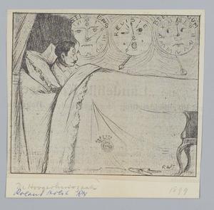 Spotprent over de rechtzaak van de gebroeders Hoogerhuis, 1899