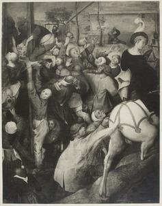 De H. Martinus snijdt een stuk van zijn mantel voor een bedelaar