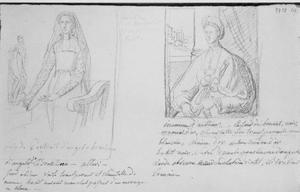 Twee portretten van Italiaanse vrouwen