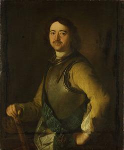 Portret van Peter de Grote, tsaar van Rusland (1672-1725)