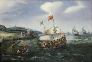 Schepen voor de kust bij Dover
