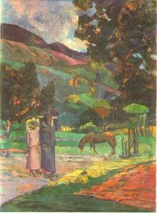 Landschap op Tahiti