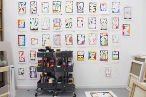Het atelier van Jordy van den Nieuwendijk