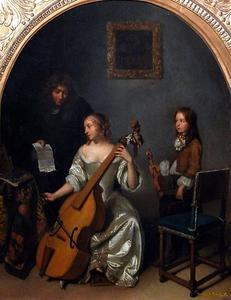 De muziekles op de viola da gamba
