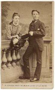 Portret van Agnes Henriette Pauw van Wieldrecht (1858-1925) en Maarten Iman Pauw van Wieldrecht (1860-1913)