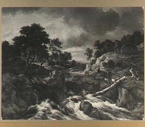Berglandschap met een waterval