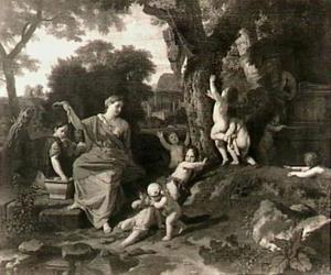 De tombe van de dichter Eumolpe, gestorven van liefde (Vergilius, Bucolica X, 9-10)
