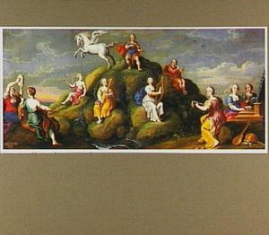 Apollo,  de muzen en Pegasus op de Parnassus