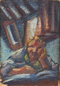 Zelfportret van Otto Herbert Fiedler (1891-1962)