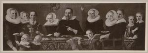 Portret van de familie Van Vanevelt