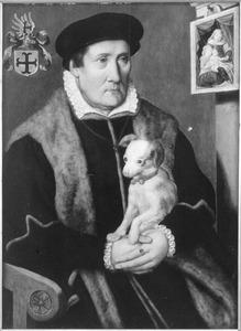 Portret van een man met een hondje