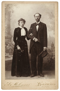 Portret van Anna Elisabeth Zandstra (1875-1932) en Dirk de Gavere (1867-1923)