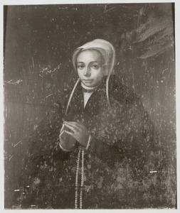 Portret van Lidewij (Liduwina) van Beveren (1522-1557)