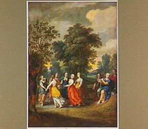 Apulische herder in een wilde olijfboom veranderd om zijn bespotting van dansende nimfen (Ovidius, Metam.XIV:516-526)