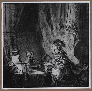 Judith maakt toilet voor haar maaltlijd met Holofernes