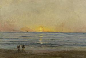 Zonsondergang bij Villerville
