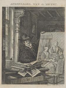 Fantasieportret van Gabriel Metsu (1629-1667)