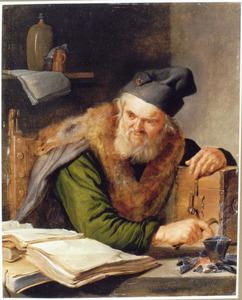 Een alchemist aan het werk