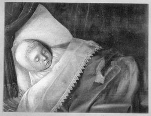 Doodsbedportret van een kind uit het geslacht Honigh
