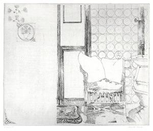 't Woold, de stoel van Gerard Wiarda naast een kachel II