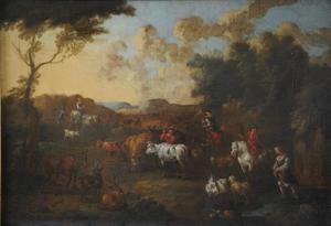 Landschap met herders en herderinnen