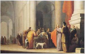 Het penningske van de weduwe (Marcus 12:41-44)