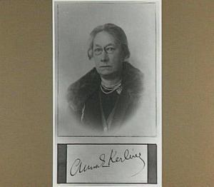 Portret van de schilderes Anna Kerling