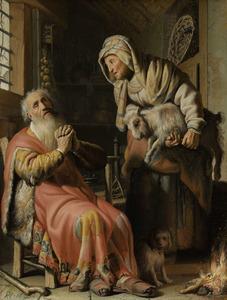 Tobias beschuldigt Anna van het stelen van het bokje (Tobias 3: 1-6)