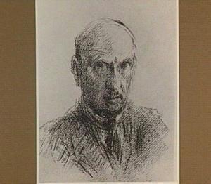 Zelfportret van de schilder/etser Marius Bauer (1867-1932)