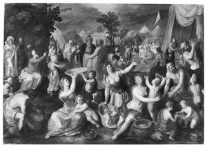 Mozes beveelt de Israelieten het manna in te zamelen (Exodus 16:10-17)