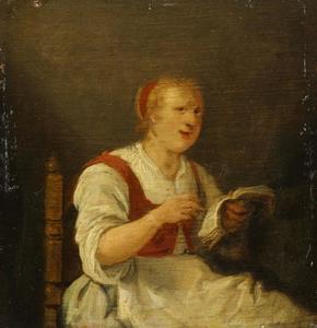 Zingende boerenvrouw