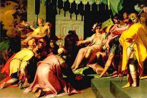 Jozef ontvangt zijn broers in Egypte (Genesis 44:14)