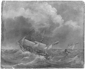 Het fregat 'Afrikaan'