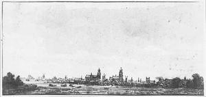 Delft vanuit het noorden (?)