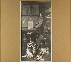 De H. Carolus Borromeus bidt tot behoud van de pestlijders