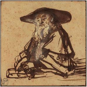 Portret van een oude joodse man