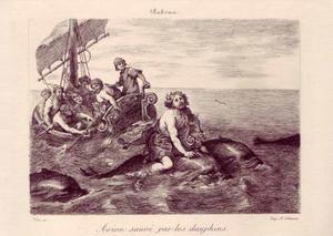 Arion op de rug van een dolfijn