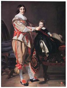 Dubbelportret van een man en een jongen