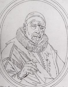 Portret van Pieter Christiaensz. Bor (1559-1635)