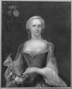 Portret van Hadwina Antonia Backer (1717-1764)
